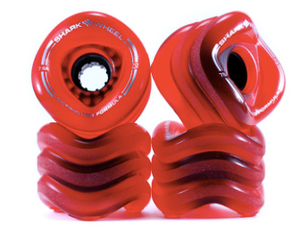 Sharkwheels Transparent Red Sidewinder 70mm