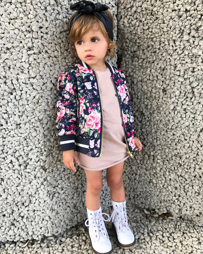 Floral Bomber Jacket (Kids)