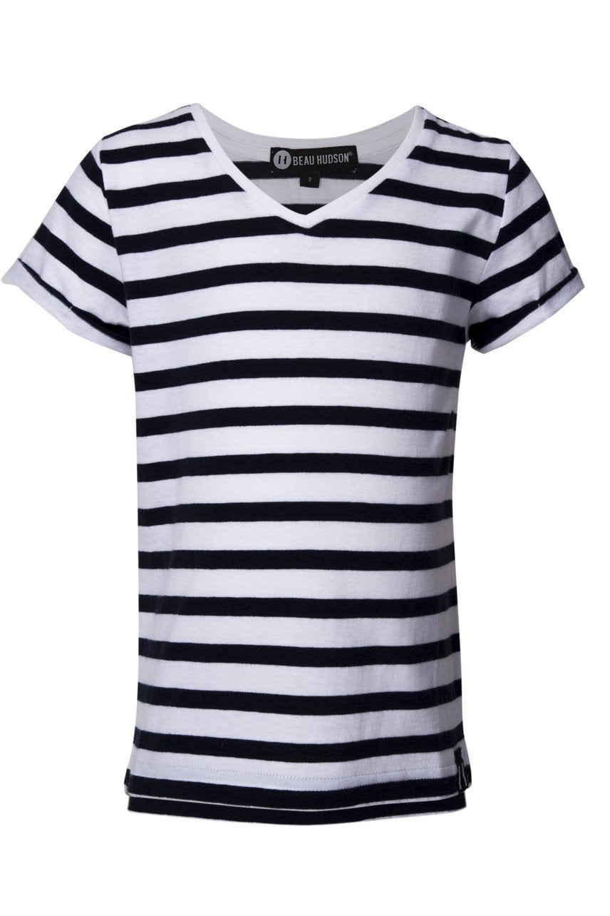 V-Neck Tee - Striped