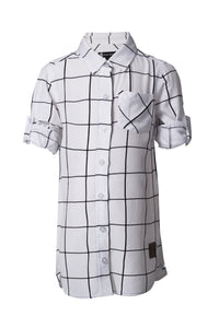 Grid Shirt Dress (Kids)
