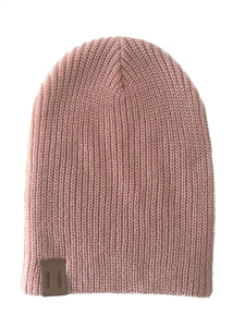 Knit Beanie - Musk Pink
