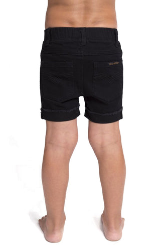 Denim Jeg Shorts - Black
