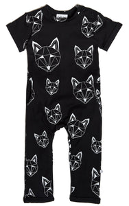 Just Call Me Fox Long Pocket Romper