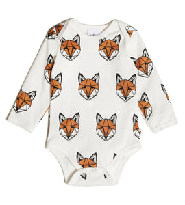 Just Call Me Fox Vest Romper (Long Sleeve)