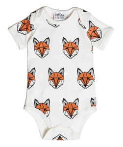 Just Call Me Fox Vest Romper (Short Sleeve)