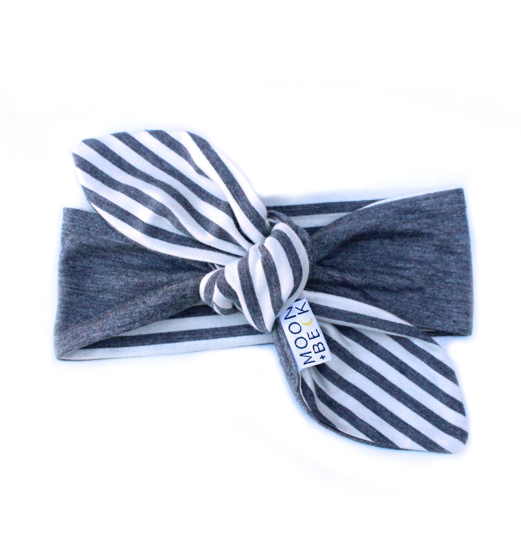 Chloe Knot Headwrap - Gray