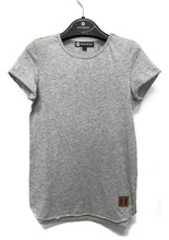 Raw Edge Tall Tee - Grey Marle
