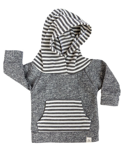 Gray & Gray Stripe Hoodie (Adults)