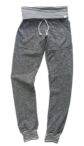 Gray & Gray Stripe Skinny Sweats (Adults)