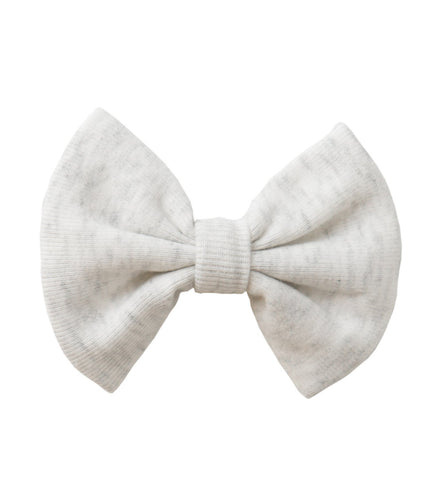 Heathered Cream Bow Clip