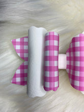 Load image into Gallery viewer, Pink Gingham Hair Bow
