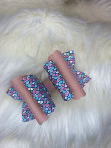 Mermaid Scales Hair Bow