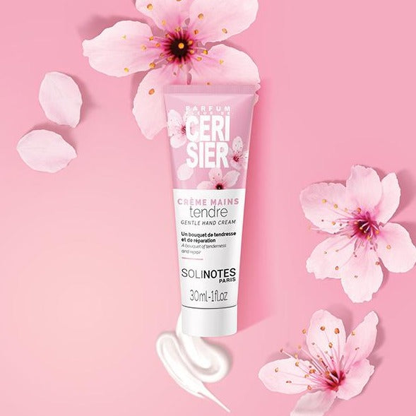 solinotes hand cream cherry blossom 30 ml 1 fluid ounce shop now on exclusive beauty club dot com