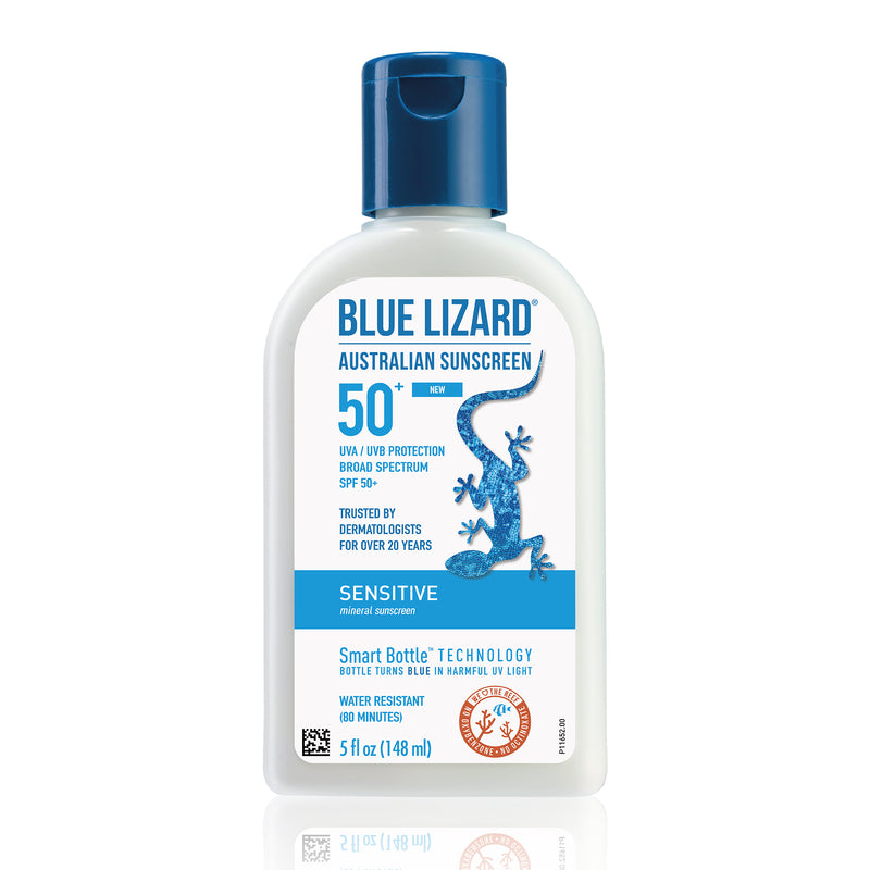 New Blue Lizard Australian Sensitive SPF 50 Lotion Exclusive Beauty Club Sunscreen