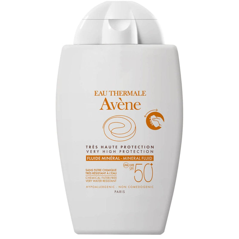 Avene Mineral Fluid Sunscreen SPF Sunscreen Shop Exclusive Beauty Club