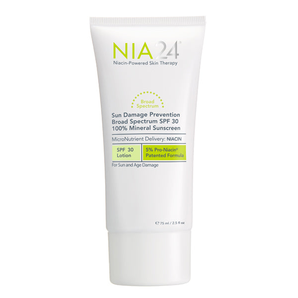NIA24 Sun Damage Prevention Broad Spectrum SPF 30 100% Mineral on Exclusive Beauty Club shop online skin care