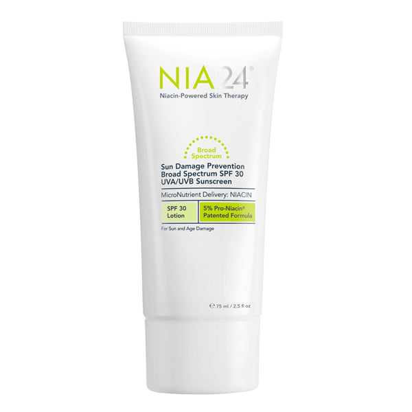NIA24 Sun Damage Prevention Broad Spectrum Sunscreen SPF 30 on Exclusive Beauty Club shop online skin care
