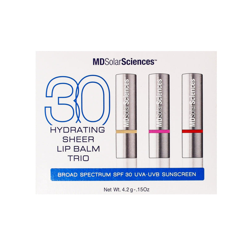 MDSolarSciences Hydrating Sheer Lip Balm SPF 30 TRIO Shop Sunscreen on Exclusive Beauty Club