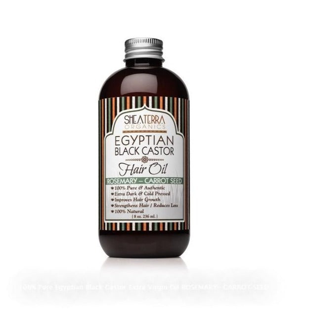 shea terra organics egyptian black castor hair oil rosemary carrot seed shop on exclusive beauty club