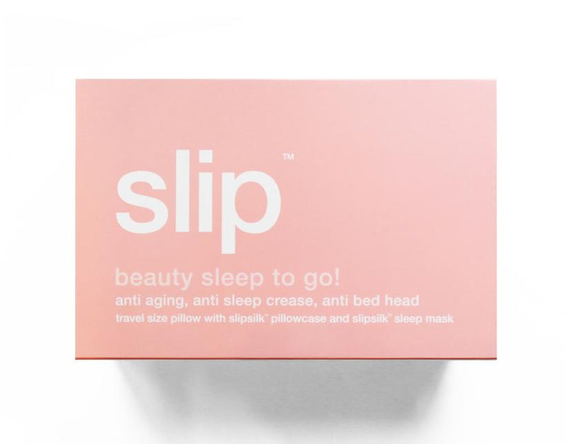 Slip Beauty Sleep to Go Pink Travel Set (Travel Pillow & Sleep Mask)