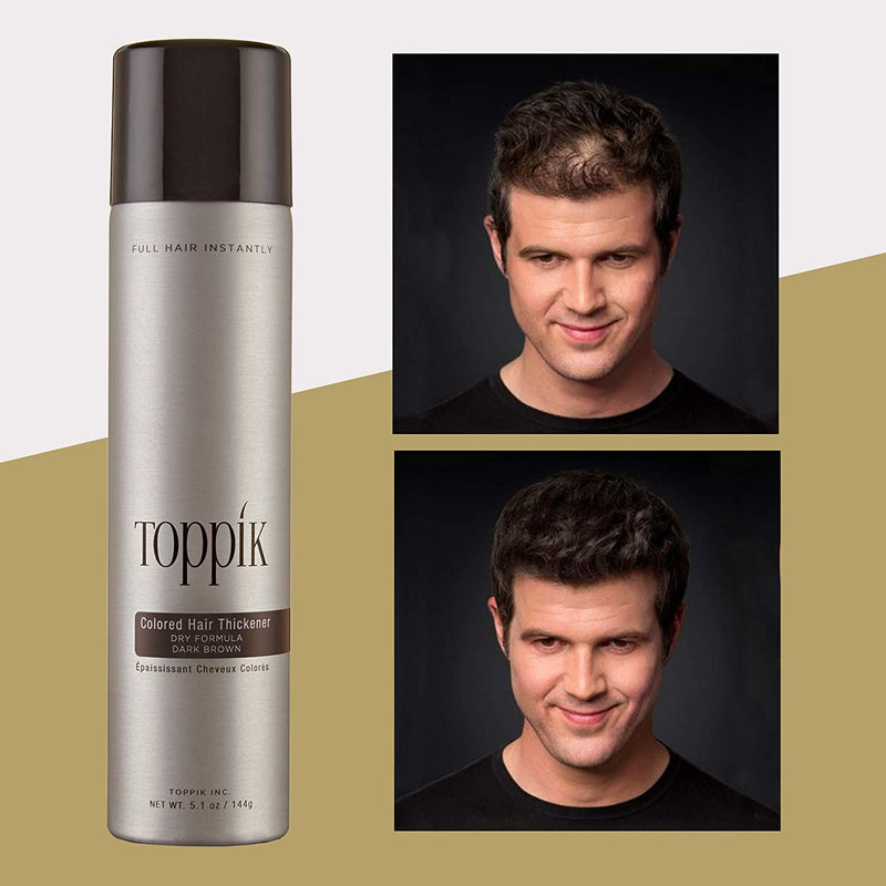 Toppik colored hair thickener Dark Brown shop at exclusive beauty club