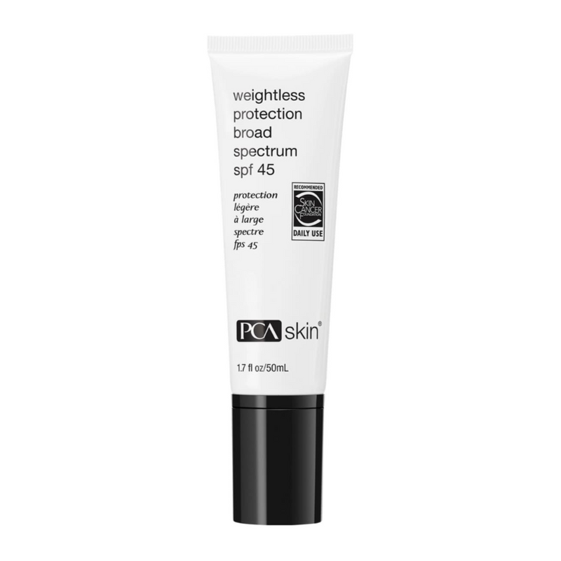 PCA Skin Weightless Protection Broad Spectrum SPF 45 Exclusive Beauty Club Skin Care Sunscreen