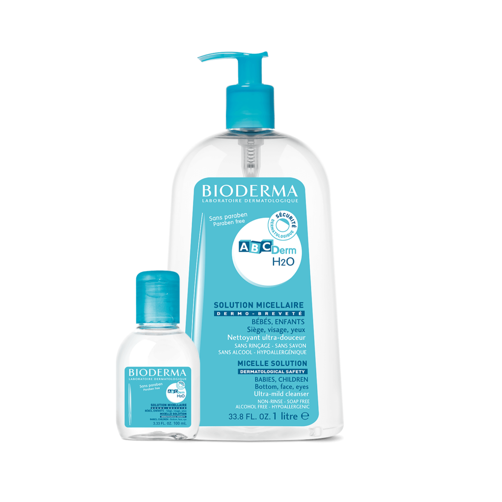 Bioderma  ABCDerm H2O Micellar solution on Exclusive Beauty Club shop online skin care
