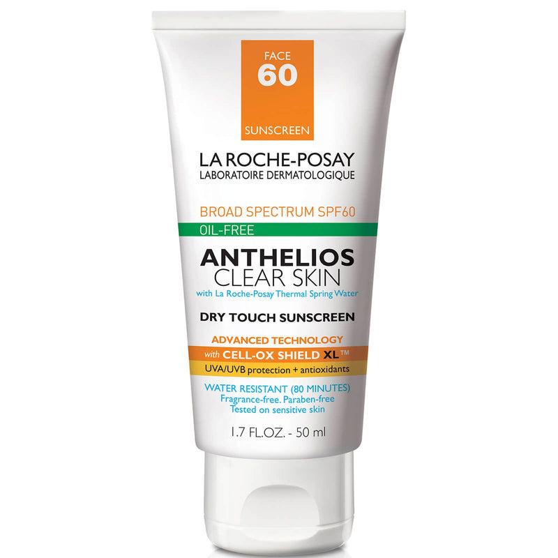 La Roche-Posay Anthelios Clear Skin Dry Touch Sunscreen SPF 60 Exclusive Beauty Club Daily Cream