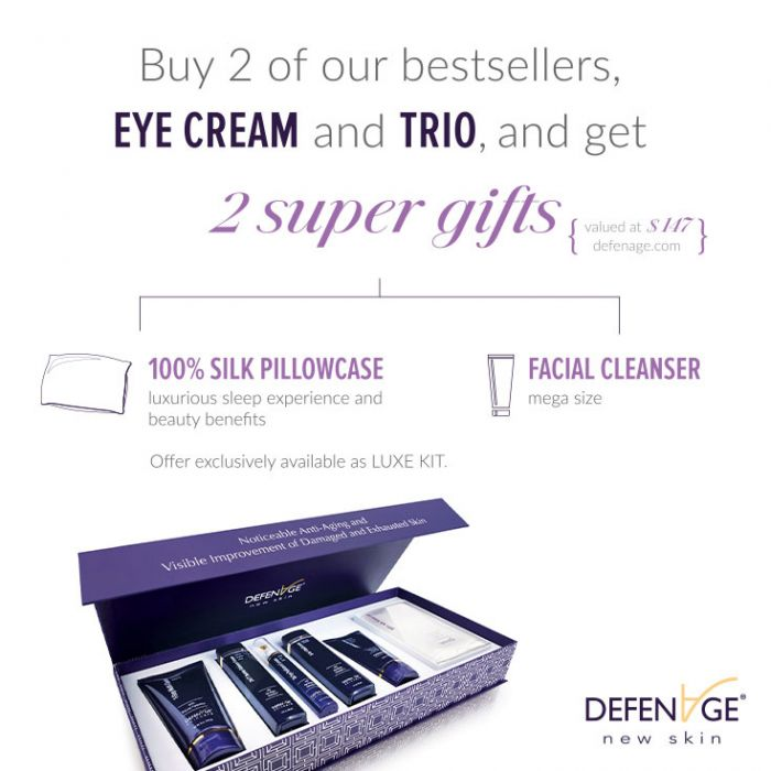 DefenAge Luxe Kit Fragrance Free Anti-Aging Skincare Exclusive Beauty Club