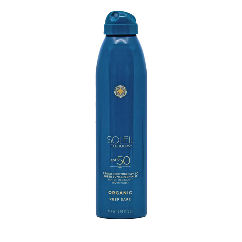 Soleil Toujours Organic Sheer Sunscreen Mist SPF 50 Shop Sunscreen at Exclusive Beauty Club