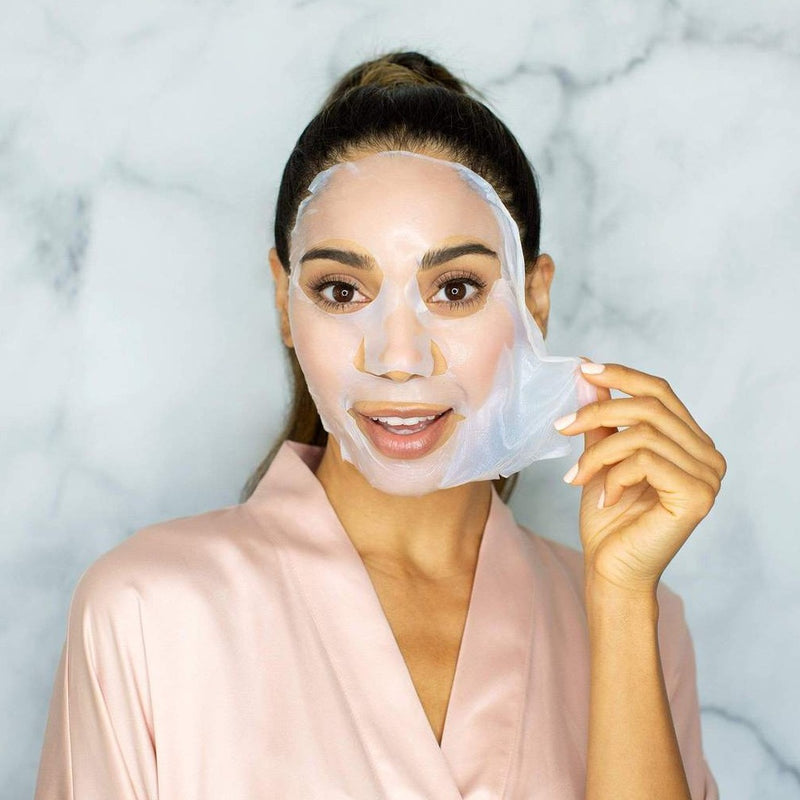 Soon Skincare biocellulose brightening face mask shop at exclusive beauty club