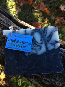 Activated Charcoal & Pine Bar