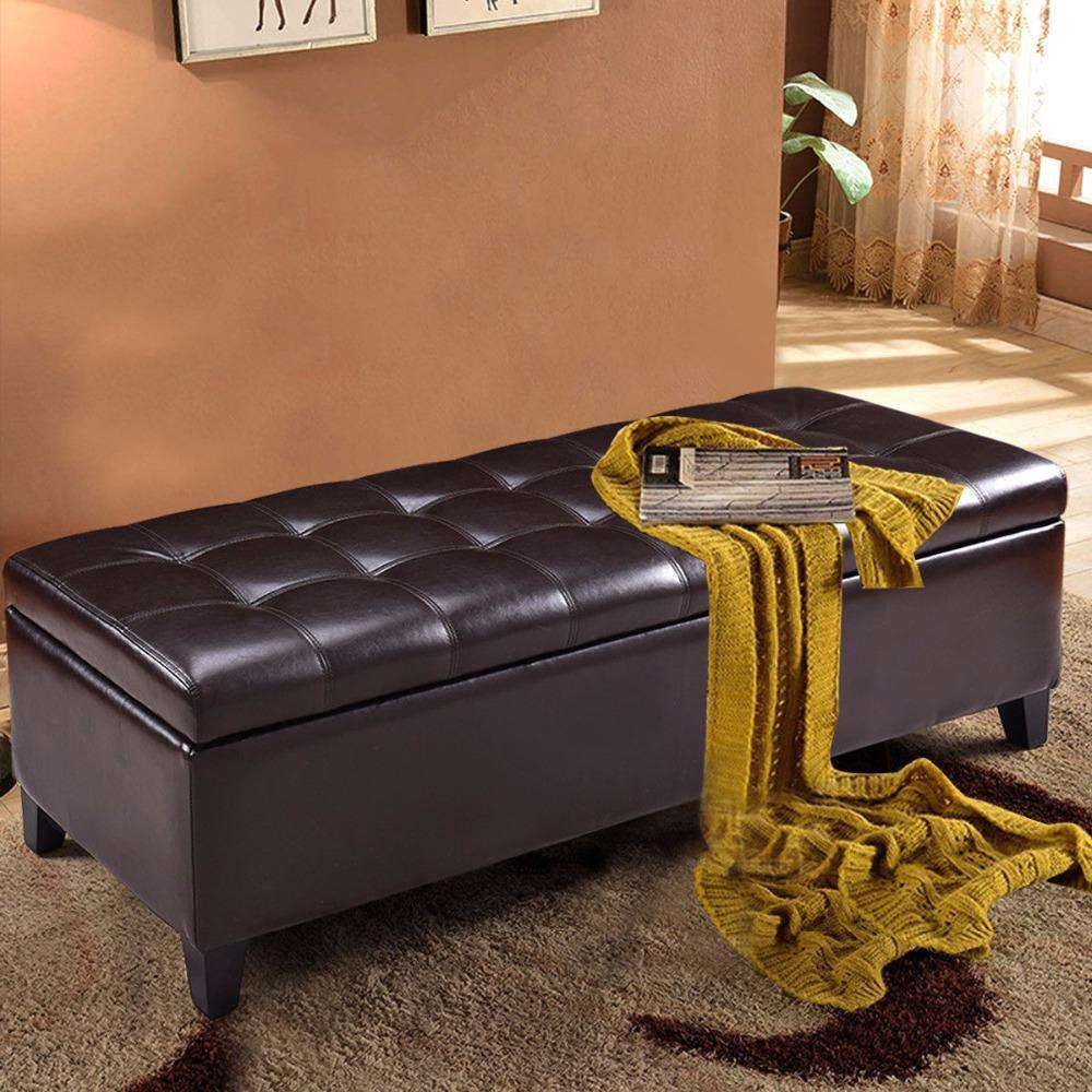 Indoor Bench - Storage Ottoman Bench 51""