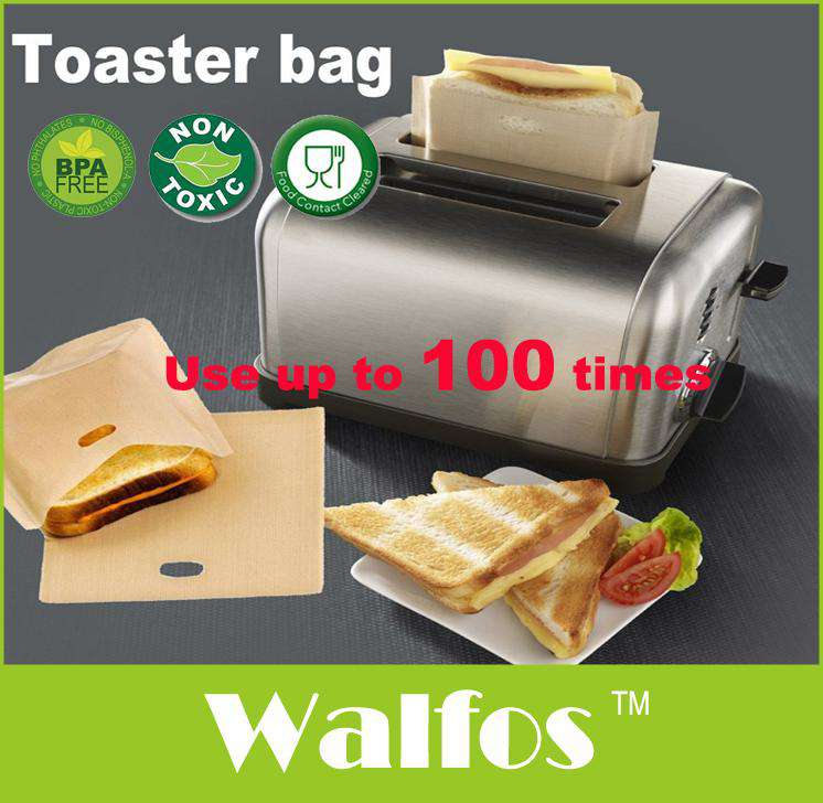 WALFOS Heat Resistant non stick toast bags (3Bags)