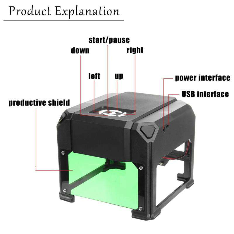 80x80mm Engraving Range Laser Engraver Machine