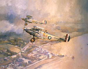 Hawker Harts over Instow. 'A Brace of Harts.'