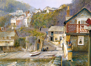 Clovelly Harbour. 'The Red Lion.'