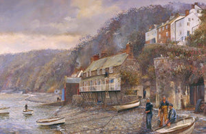 Clovelly. 'Fisherman's yarns'.
