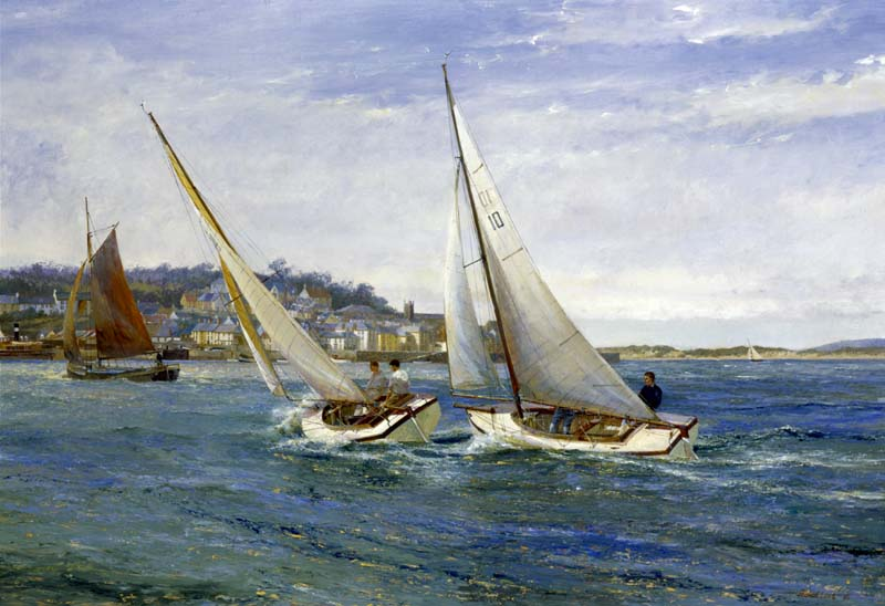 Taw/Torridge One Designs Racing off Appledore. 'A Fresh Breeze.'