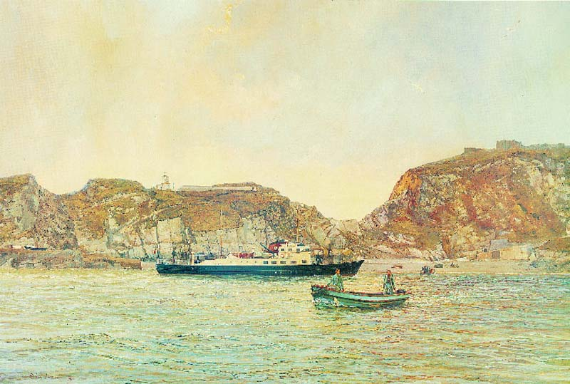 'Morning arrival Lundy.' The Oldenburg