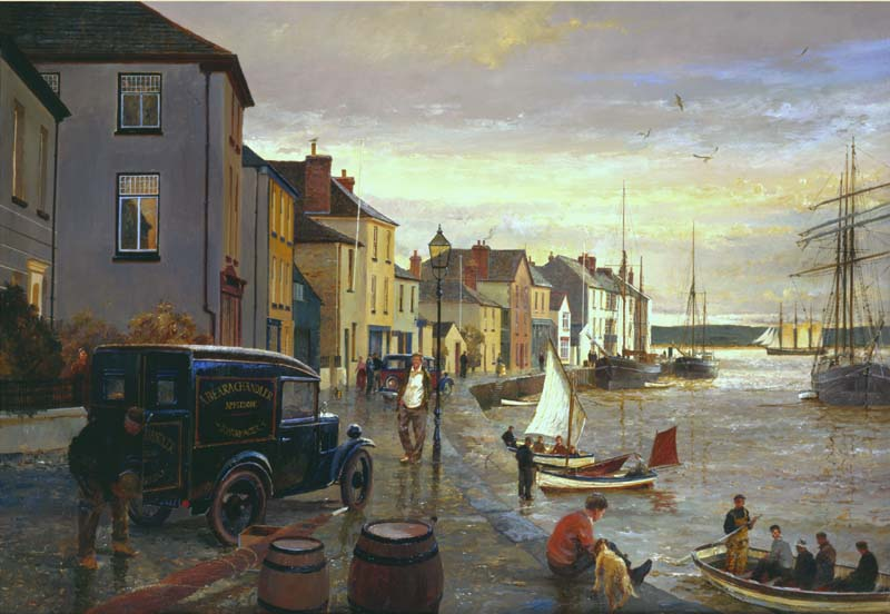 'Leaving on the tide.'Appledore quay