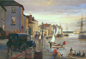 Appledore quay.' Leaving on the tide.'