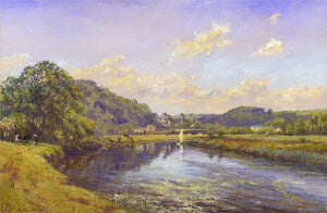 The Torridge at Wear Giffard. 'A lazy afternoon.'