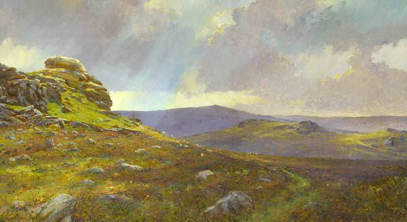 Dartmoor Hay Tor. 'Scudding clouds and fleeting sunshine.'