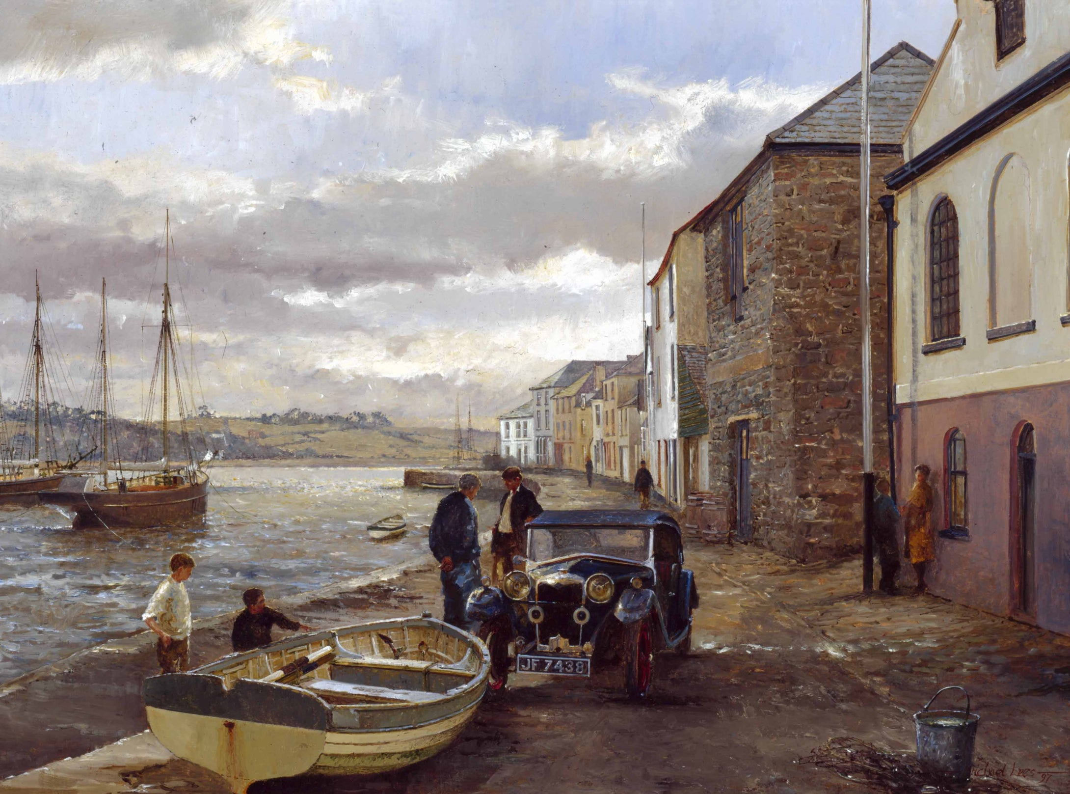 Appledore quay.' The new Riley.'