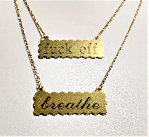 Flip It Breathe / F off Necklace