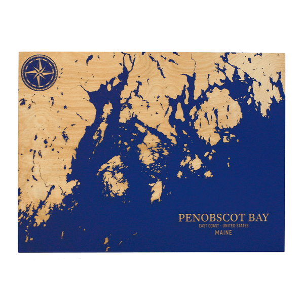 Penobscot Bay Wall Art 12x16