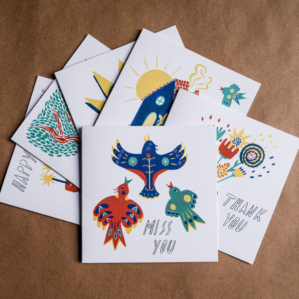 Folk Card 6 Pack