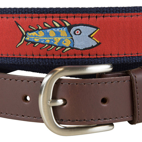 Eric Hopkins Fish Belt, Red