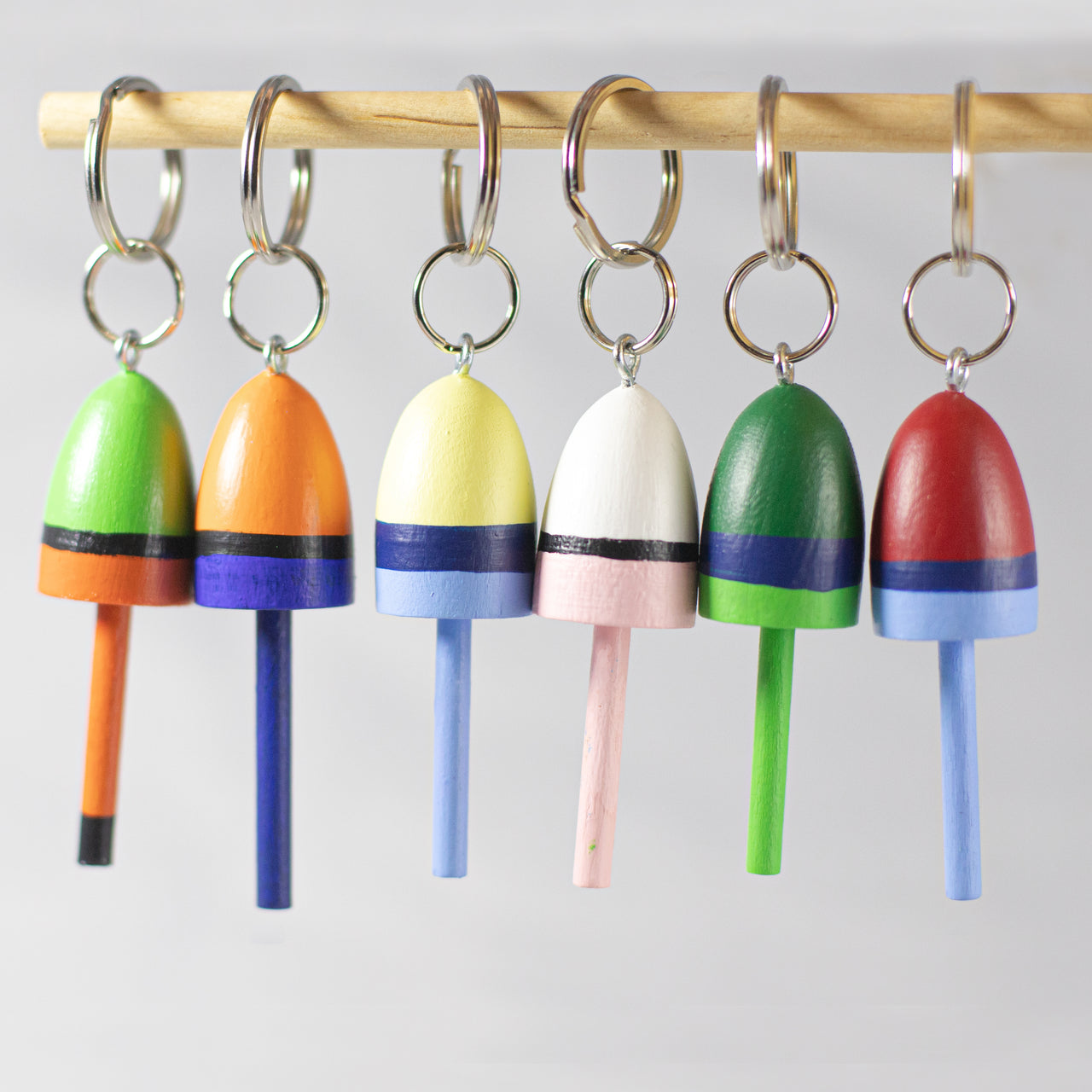Painted Buoy Keychain